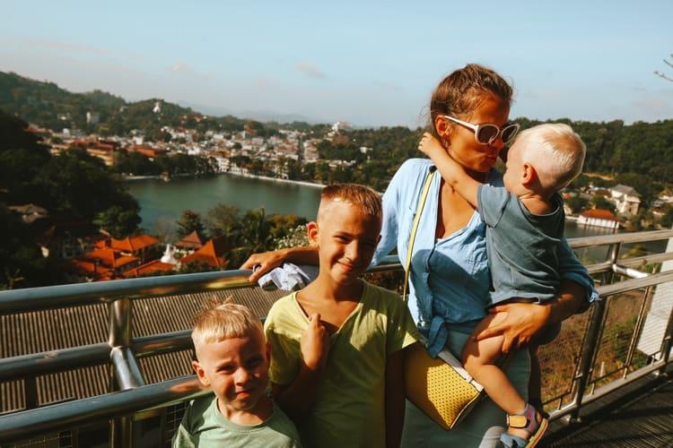 Kandy city with kids