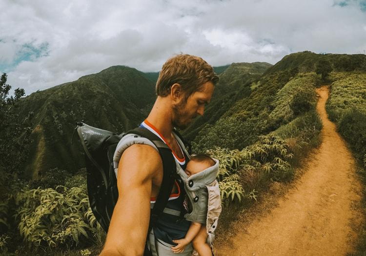 Ella with a baby