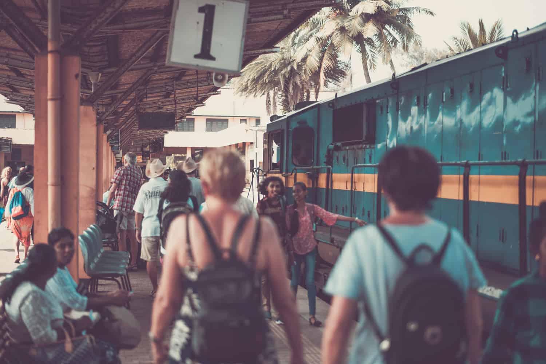 Train station in Sri Lanka