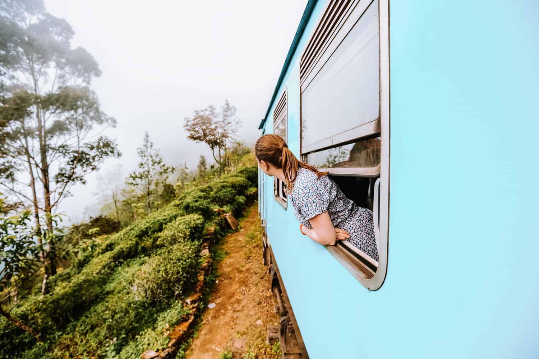 Kandy to Ella train journey view