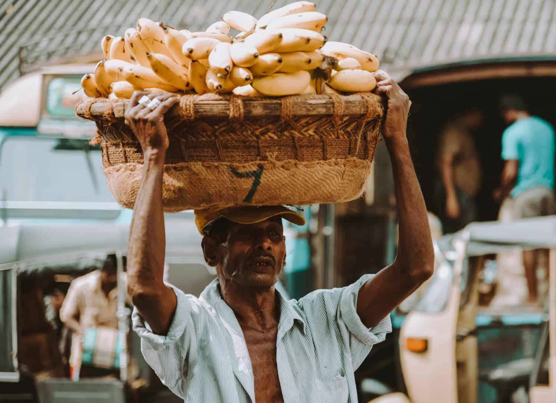 Local market in Sri Lanka